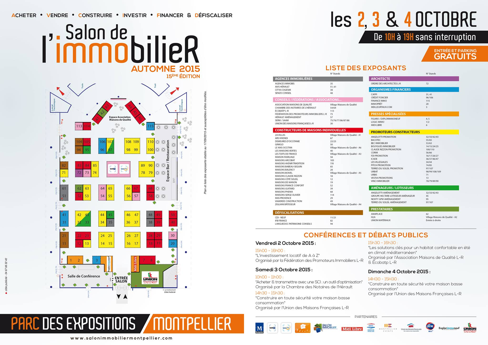 salon de l 39 immobilier montpellier 2 au 4 octobre immoactu. Black Bedroom Furniture Sets. Home Design Ideas