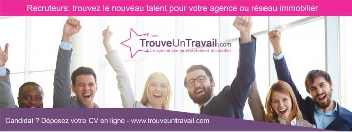 Lancement national pour TrouveUnTravail.com spécialiste de l'emploi immobilier