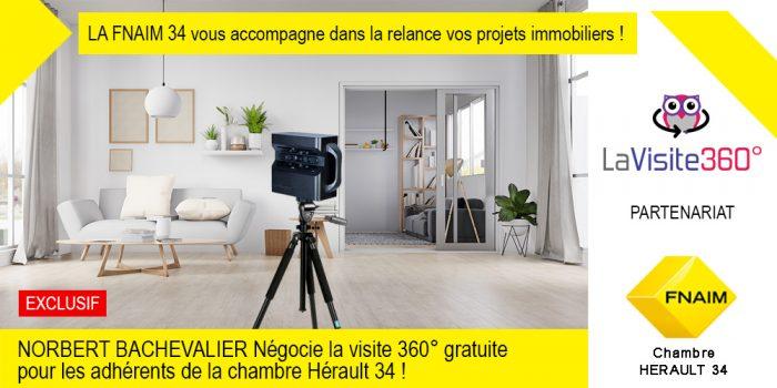 NORBERT BACHEVALIER, négocie la visite 360° gratuite pour les adhérents de la chambre 34 Hérault !